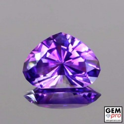 Nice Violet Amethyst 7.5 ct Pear Facet from Madagascar