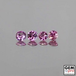 1 ctw malaya garnet round-cut pair 3 x 2 mm 4 pcs Lot