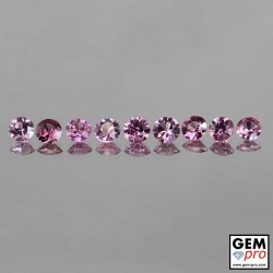 3.9 ctw malaya garnet round-cut 4 x 3 / 4 x 2 mm 9 pcs Lot