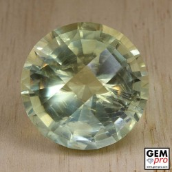 Yellow Orthoclase 103.2 ct Checkerboard-Cut