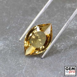 7.5 ct Yellow Golden Citrine Gem from Madagascar Natural and Untreated