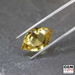 8.2 ct Citrine Precision Cut Gemstone from Madagascar Natural and Untreated