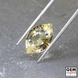 8.8 ct Yellow Citrine Precision Cut Gemstone from Madagascar