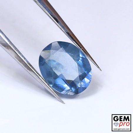Blue Santa Maria Africana Aquamarine 0.46 ct Oval Cut from Madagascar Natural and Untreated Gemstone