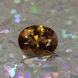 0.8 ct. Cognac Tourmaline Oval Cut