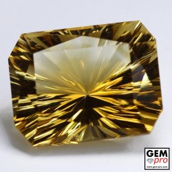 19.04 ct Yellow Golden Citrine Gem from Madagascar Natural and Untreated