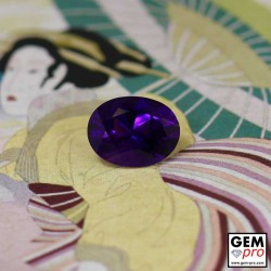 Natural Violet Oval Shape 11 x 8 mm Amethyst 3.38 ct. from Madagascar