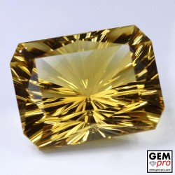 12.68 ct Yellow Golden Citrine Gem from Madagascar Natural and Untreated