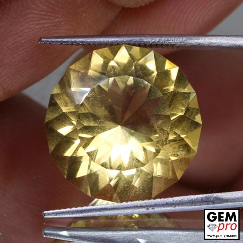 14.53 carat Round 17.96 mm Yellow Citrine Gemstone