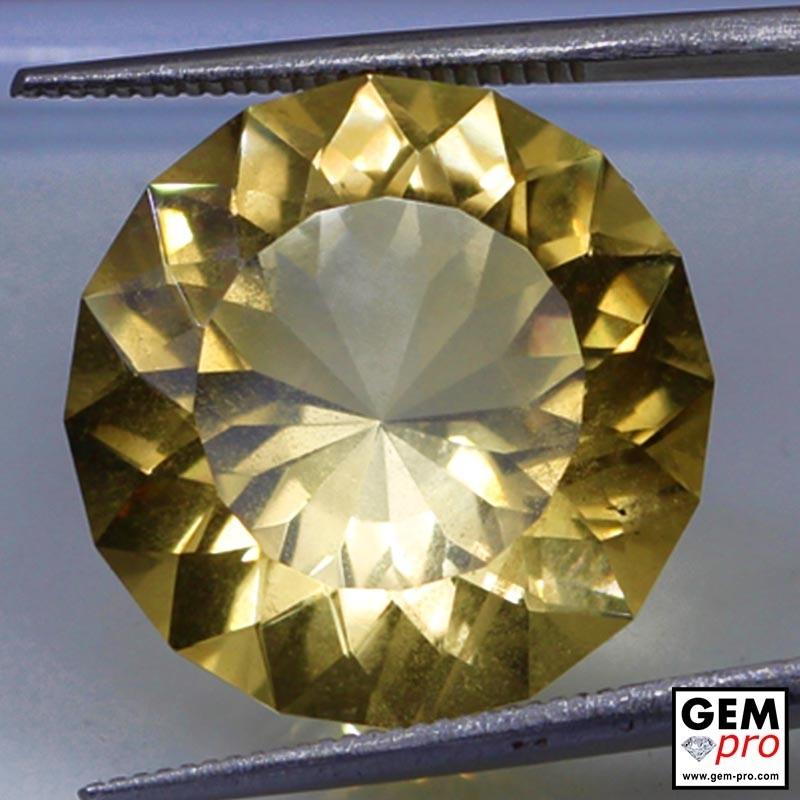 14.50 carat Round 17.96 mm Yellow Citrine Gemstone