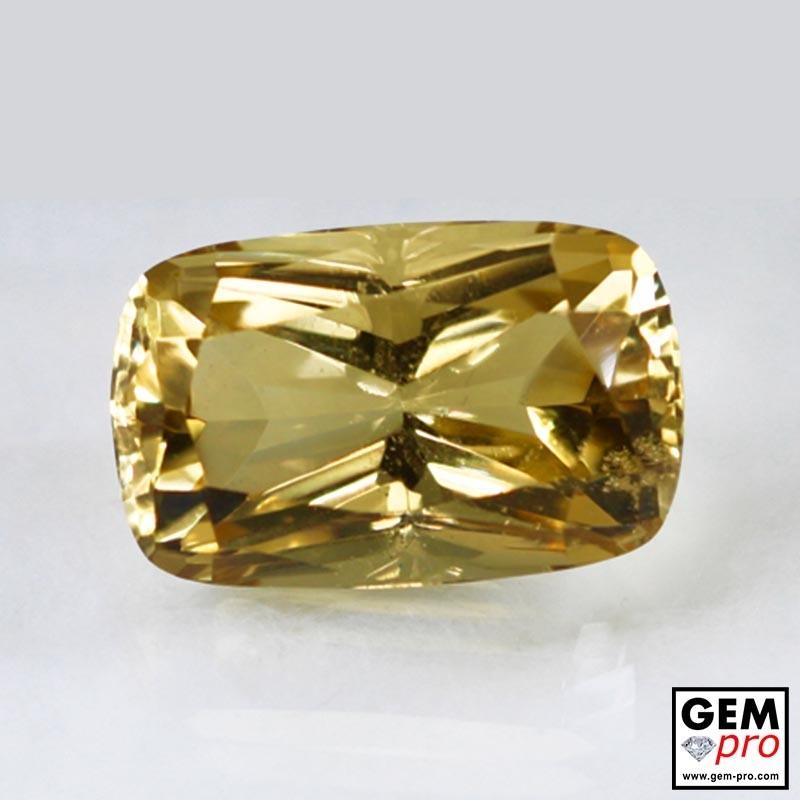 Golden Yellow Citrine 25 Carat Cushion Cut from Madagascar Gemstone