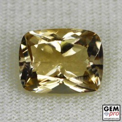 Golden Yellow Citrine 5 Carat Cushion Cut from Madagascar Gemstone