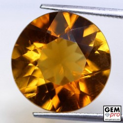 9.09ct Orange Madeira Citrine Cut 15 x 15 mm Natural Gemstone from Madagascar