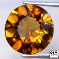Orange Citrine 8 Carat Round from Madagascar Gemstone