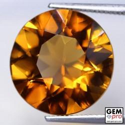 Orange Citrine 8 Carat Round from Madagascar Gemstone