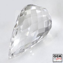 36.72 ct Colorless Quartz Gem from Madagascar Natural and Untreated