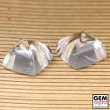 38 ctw. Colorless Quartz 2 pcs lot
