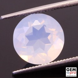 2.67ct White Opal Round Cut Natural Gemstone from Madagascar
