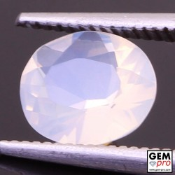 0.95 ct White Opal Gem from Madagascar Natural and Untreated