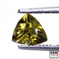 0.75ct Demantoid Garnet Trillion Cut 5 x 5 mm Natural Gemstone from Madagascar