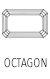 Buy Shop Octagon Cut Gemstones