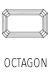 Buy Shop Octagon Cut Gemstones